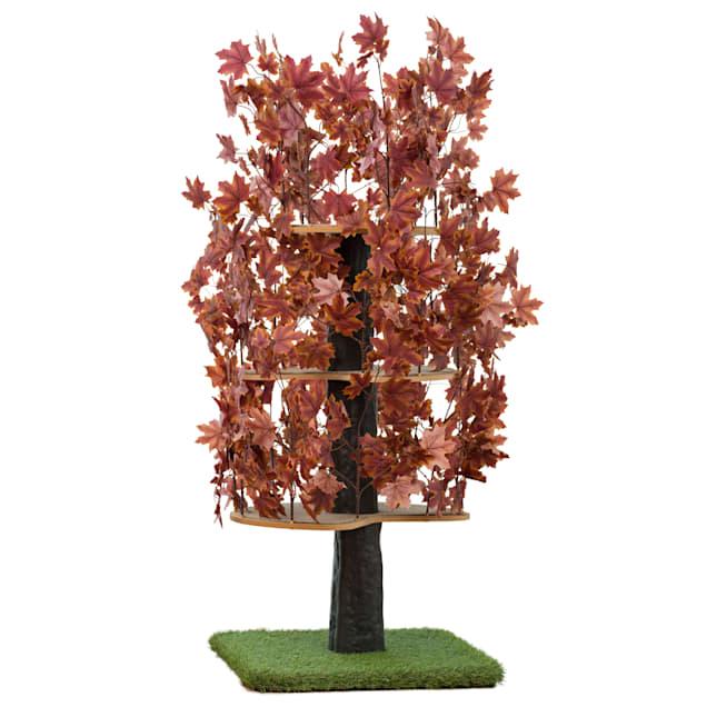 "On2Pets Plum Autumn Square Cat Tree, 60"" H - Carousel image #1"