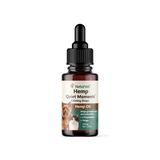 NaturVet Hemp Quiet Moments Calming Drops for Pets, 4 fl. oz. - Carousel image #1