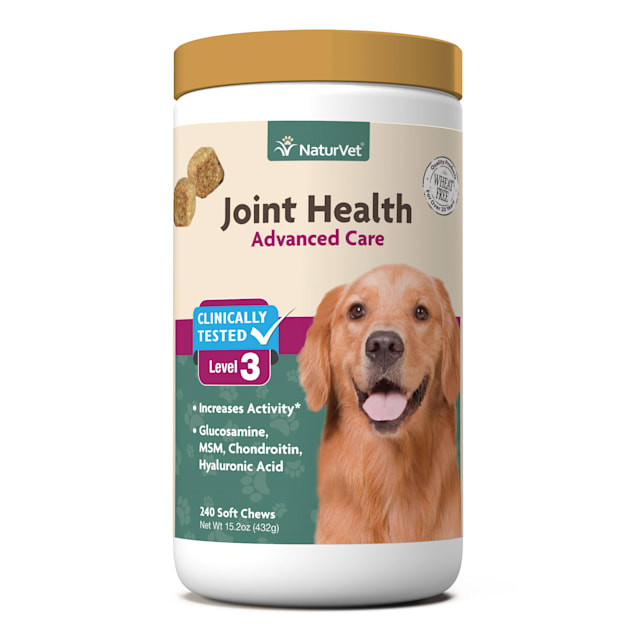 NaturVet Joint Health Level 3 Dog Soft Chew, Count of 240 - Carousel image #1