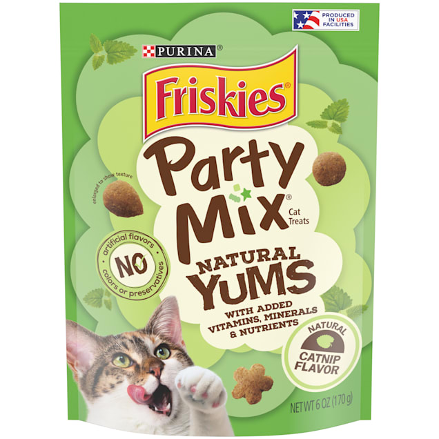 Purina Friskies Party Mix Natural Yums Catnip Flavor Cat Treats, 6 oz. - Carousel image #1