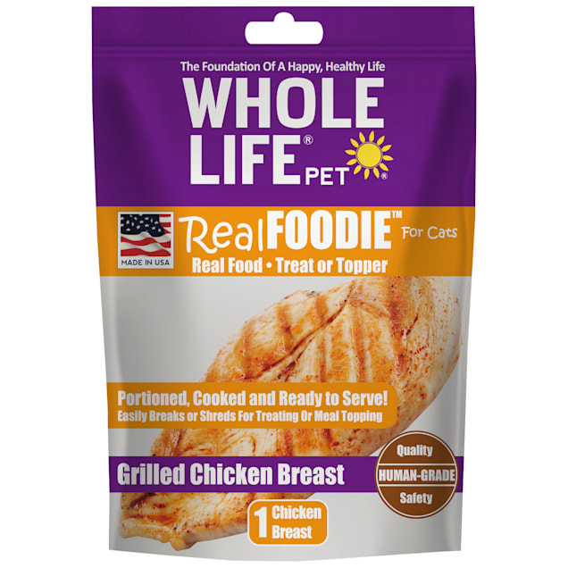 Whole Life Pet Real Foodie Freeze Dried Chicken Breast Cat Treats, 1.2 oz. - Carousel image #1