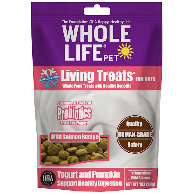 Whole Life Pet Living Treats Probiotics Salmon Recipe Cat Treats, 1 oz. - Carousel image #1