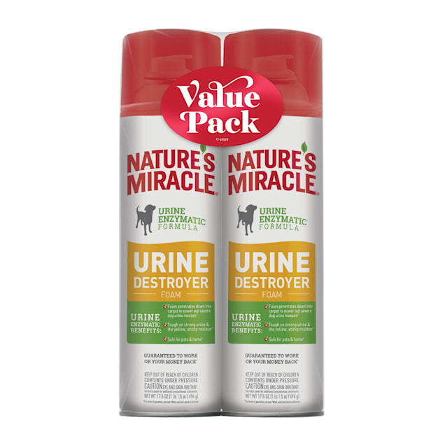 Nature's Miracle Urine Destroyer Foam for Dogs, 17.5 fl. oz., Pack of 2 - Carousel image #1