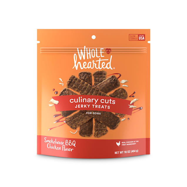 WholeHearted Culinary Cuts Smokehouse BBQ Chicken Recipe Jerky Dog Treats, 16 oz. - Carousel image #1
