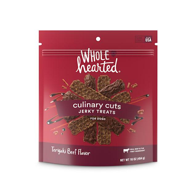 WholeHearted Culinary Cuts Teriyaki Beef Recipe Jerky Dog Treats, 16 oz. - Carousel image #1