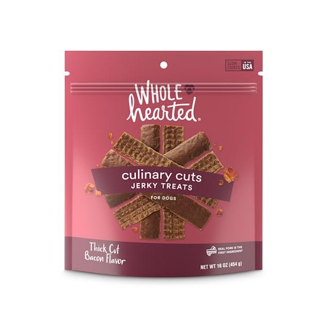 WholeHearted Culinary Cuts Thick Cut Bacon Recipe Jerky Dog Treats, 16 oz. - Carousel image #1