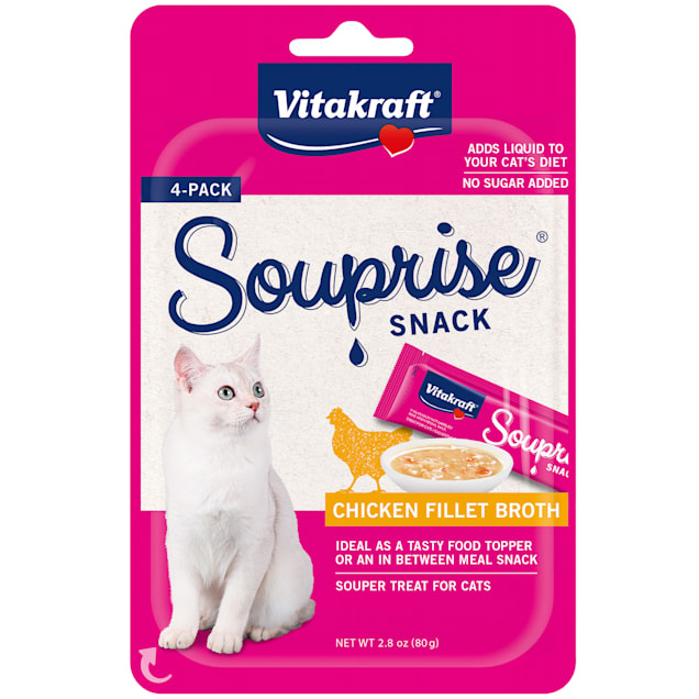 Vitakraft Souprise Snack Chicken Flavor Cat Treats, 2.8 oz., Count of 4 - Carousel image #1