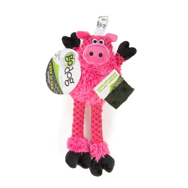 goDog Checkers Skinny Pig Plush Dog Toy, X-Small - Carousel image #1