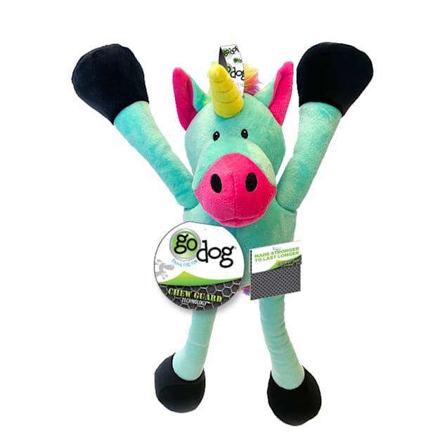 goDog Crazy Tugs Unicorn Plush Dog Toy, Large - Carousel image #1
