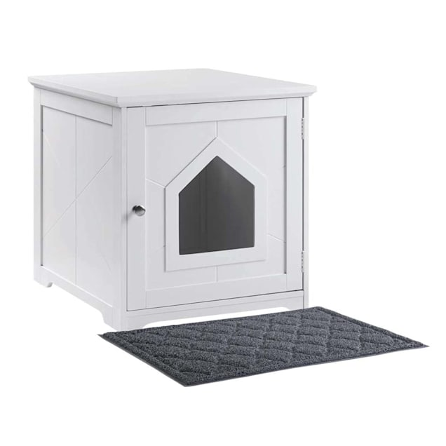 Unipaws White Indoor Cat House With Mat 19 L X 21 W X 20 H Petco