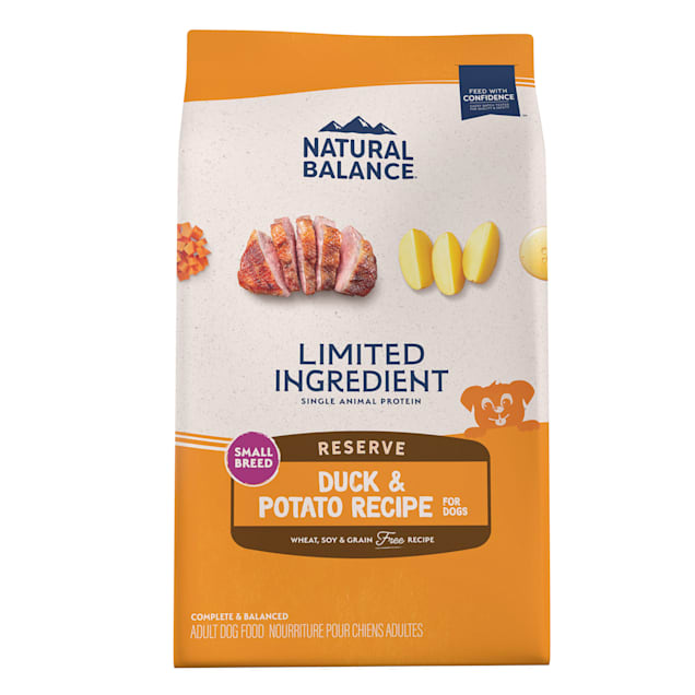 Natural Balance L.I.D. Limited Ingredient Diets Duck & Potato Formula Small Breed Bites Dry Dog Food, 12 lbs. - Carousel image #1