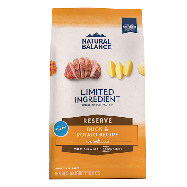 Natural Balance L.I.D. Limited Ingredient Diets Duck & Potato Puppy Formula Dry Dog Food, 24 lbs. - Carousel image #1