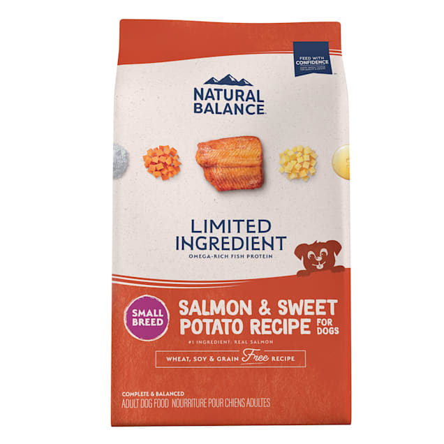 Natural Balance L.I.D. Limited Ingredient Diets Salmon & Sweet Potato Formula Small Breed Bites Dry Dog Food, 12 lbs. - Carousel image #1