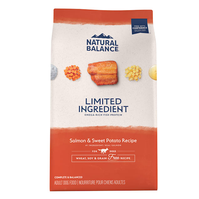 Natural Balance L.I.D. Limited Ingredient Diets Salmon & Sweet Potato Formula Dry Dog Food, 24 lbs. - Carousel image #1