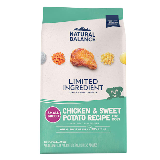 Natural Balance L.I.D. Limited Ingredient Diets Chicken & Sweet Potato Formula Small Breed Bites Dry Dog Food, 12 lbs. - Carousel image #1