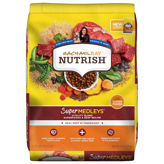 Rachael Ray Nutrish SuperMedleys Vitality Blend Premium Beef, Salmon & Superfoods Dry Dog Food, 22 lbs. - Carousel image #1