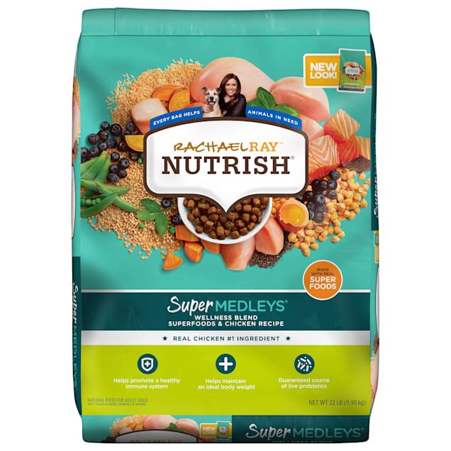Rachael Ray Nutrish SuperMedleys Wellness Blend Premium Chicken, Salmon & Superfoods Dry Dog Food, 22 lbs. - Carousel image #1