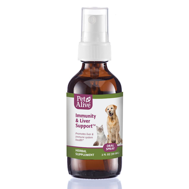 PetAlive Immunity & Liver Support Oral Spray Natural Herbal Supplement to Help Boost Immune System Function for Pets, 2 fl. oz. - Carousel image #1