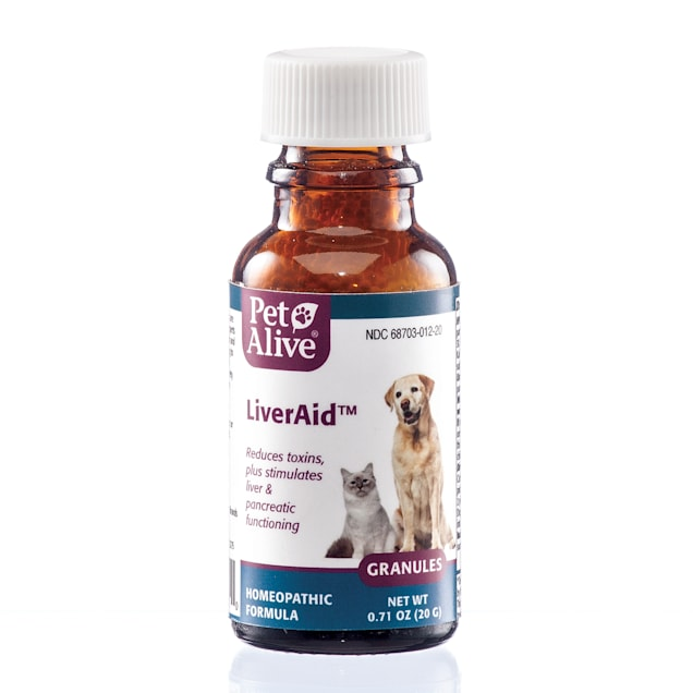 PetAlive LiverAid Homeopathic Formula for Symptoms of Liver, Gallbladder & Pancreatic Problems for Pets, 0.71 fl. oz. - Carousel image #1