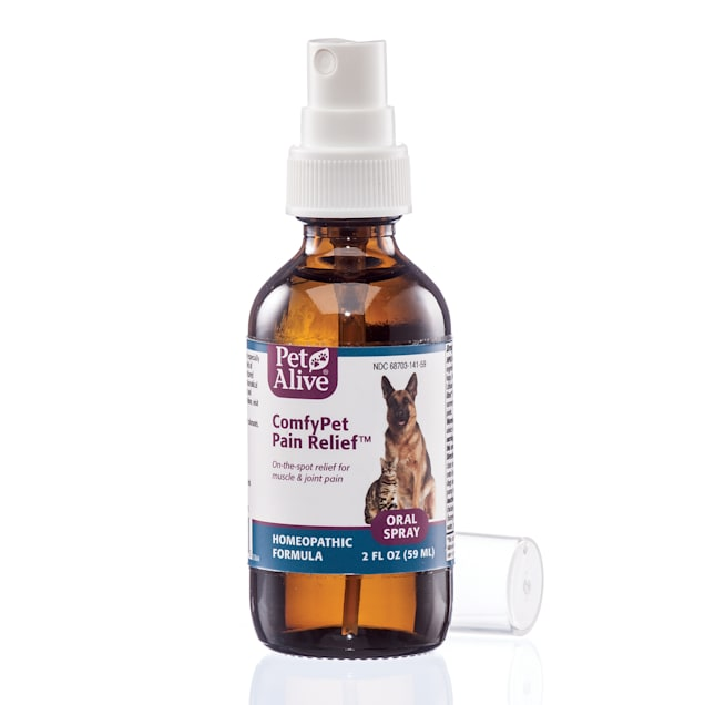 PetAlive ComfyPet Pain Relief Oral Spray Natural Homeopathic Formula Minor Aches and Pains for Pets, 2 fl. oz. - Carousel image #1