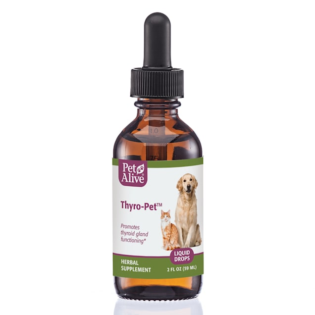 PetAlive Thyro-Pet Liquid Drops Supports Thyroid Gland Functioning for Pets, 2 fl. oz. - Carousel image #1