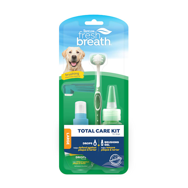 TropiClean Fresh Breath Total Care Kit for Large Dogs - Carousel image #1