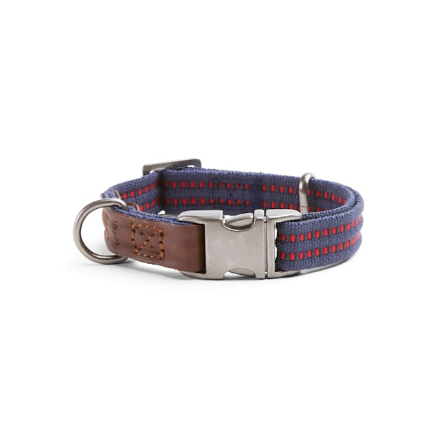 Reddy Navy/Red Webbed Dog Collar, Small - Carousel image #1