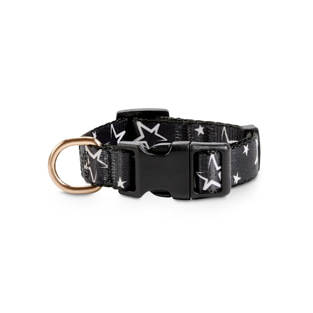 Bond & Co. Black & White Star-Print Dog Collar, Small - Carousel image #1