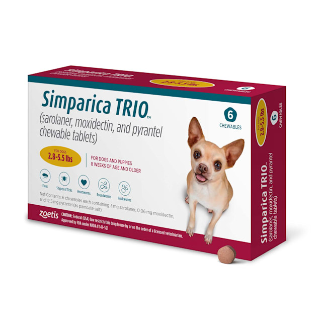 Simparica Trio 2.8-5.5 lbs. Dogs, 6 Month Supply - Carousel image #1