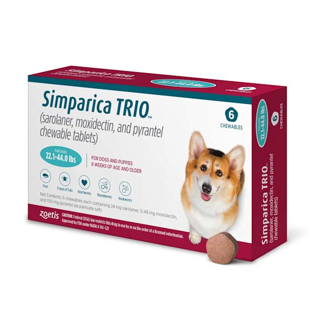 Simparica Trio 22.1-44 lbs. Dogs, 6 Month Supply - Carousel image #1
