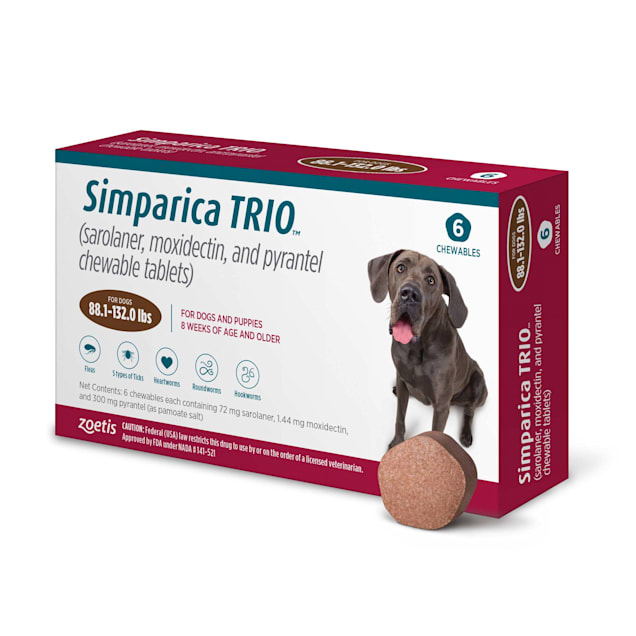 Simparica Trio 88.1-132 lbs. Dogs, 6 Month Supply - Carousel image #1