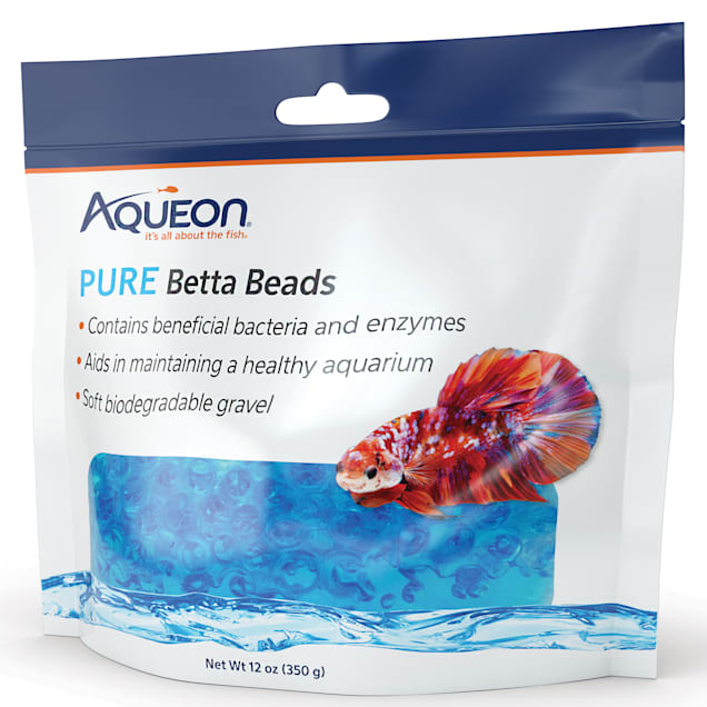 Aqueon Blue Pure Betta Beads, 12 oz. - Carousel image #1