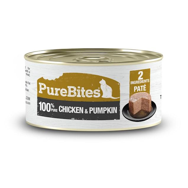 PureBites Chicken & Pumpkin Pate Cat Treats, 2.5 oz., Case of 12 - Carousel image #1