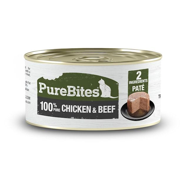 PureBites Chicken & Beef Pate Cat Treats, 2.5 oz., Case of 12 - Carousel image #1
