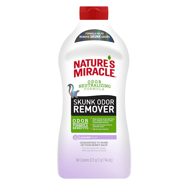 Nature's Miracle Lavender Scent Skunk Odor Remover for Pets, 32 fl. oz. - Carousel image #1