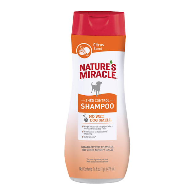 Nature's Miracle Citrus Scent 2in1 Shed Control Shampoo for Dogs, 16 fl. oz. - Carousel image #1