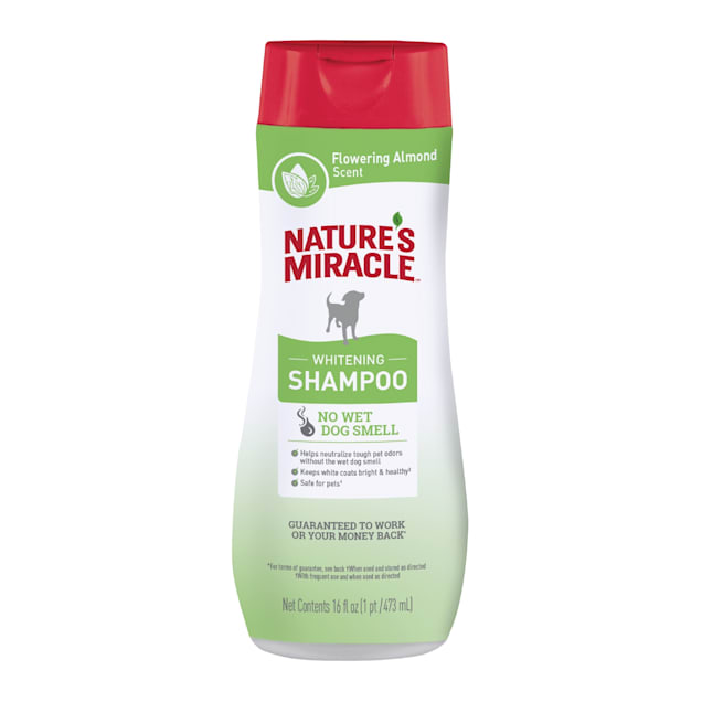 Nature's Miracle Flowering Almond Scent Whitening Odor Control Shampoo for Dogs, 16 fl. oz. - Carousel image #1