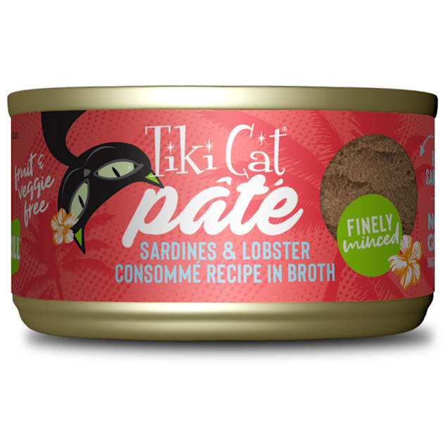Tiki Cat Grill Sardine & Lobster Pate Wet Food, 2.8 oz., Case of 12 - Carousel image #1
