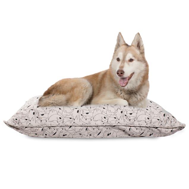 "PetShop by Fringe Studio Nosey Dog Spot Pillow Pet Bed, 36"" L X 27"" W - Carousel image #1"