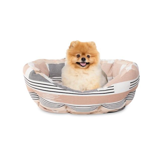 "PetShop by Fringe Studio Textile Lines Round Pet Cuddler, 20"" L X 19"" W - Carousel image #1"