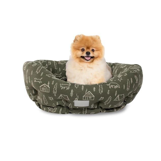 "PetShop by Fringe Studio Camping Olive Round Pet Cuddler, 20"" L X 19"" W - Carousel image #1"