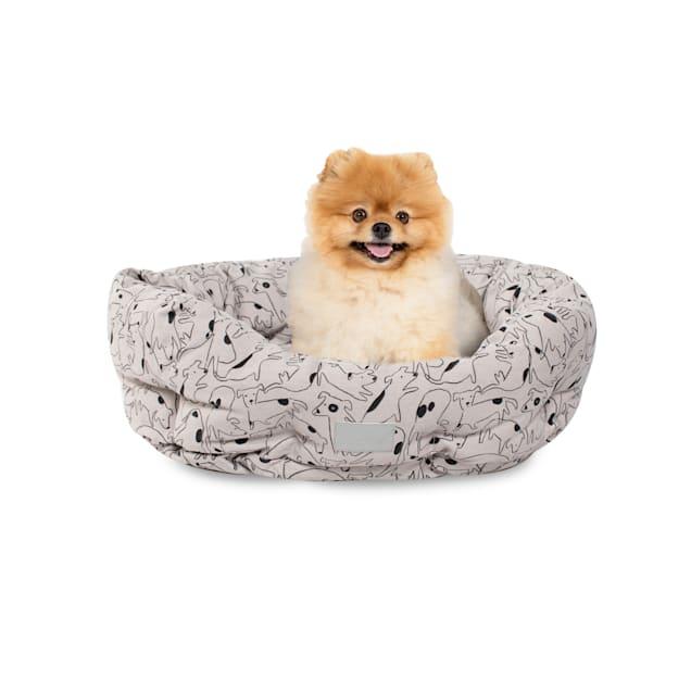 "PetShop by Fringe Studio Nosey Dog Spot Round Pet Cuddler, 20"" L X 19"" W - Carousel image #1"