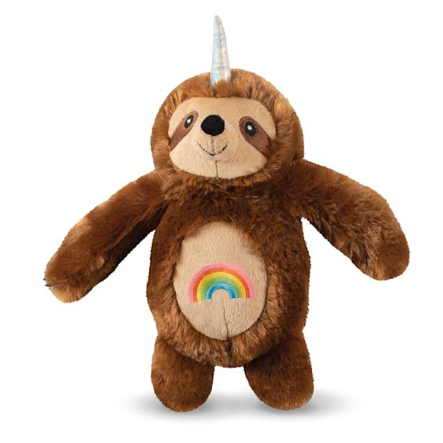 PetShop by Fringe Studio Rainbow Slothicorn Plush Dog Toy - Carousel image #1