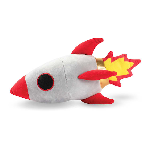 PetShop by Fringe Studio Rocket Ship Plush Dog Toy - Carousel image #1