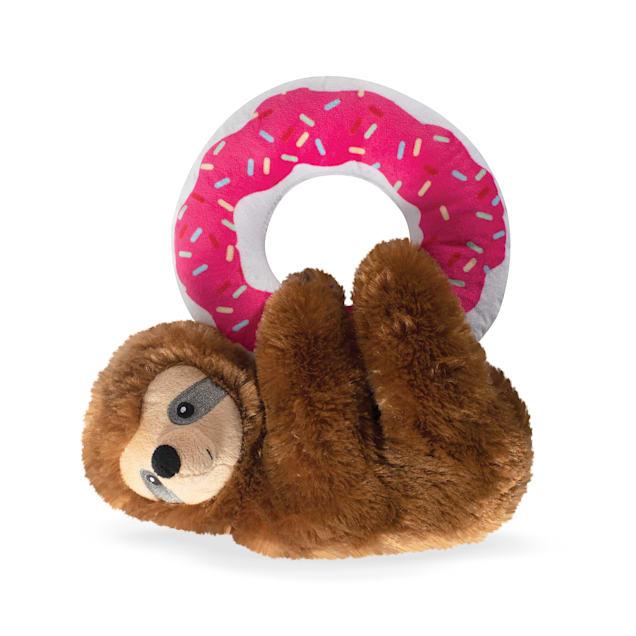 PetShop by Fringe Studio Donut Leave Me Hangin' Sloth Plush Dog Toy - Carousel image #1
