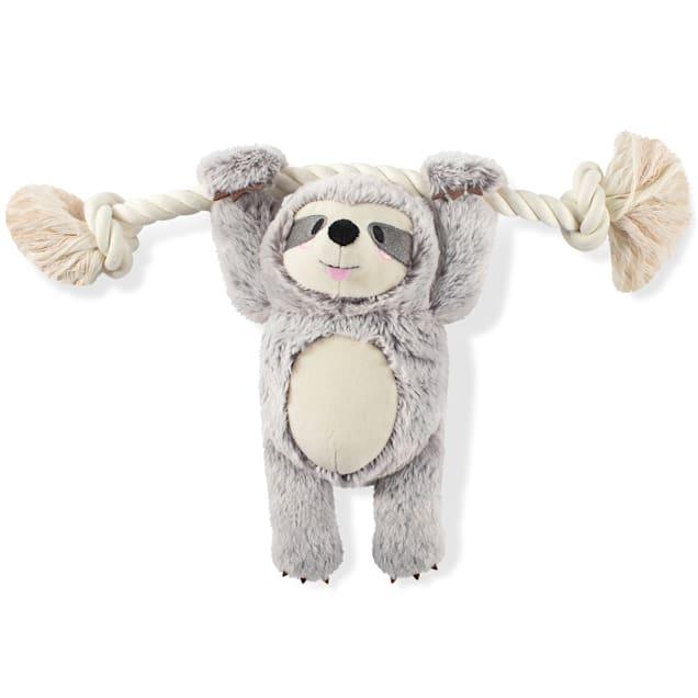 PetShop by Fringe Studio Girlie Sloth On A Rope Plush Dog Toy - Carousel image #1