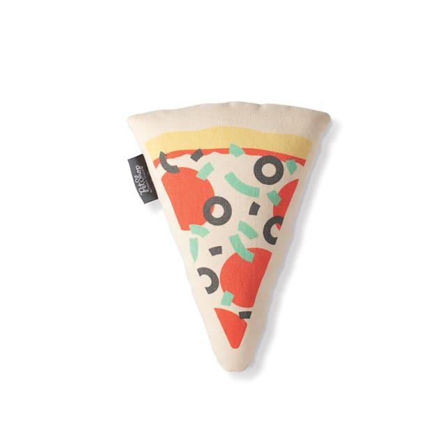 PetShop by Fringe Studio Pizza Slice Canvas Dog Toy - Carousel image #1