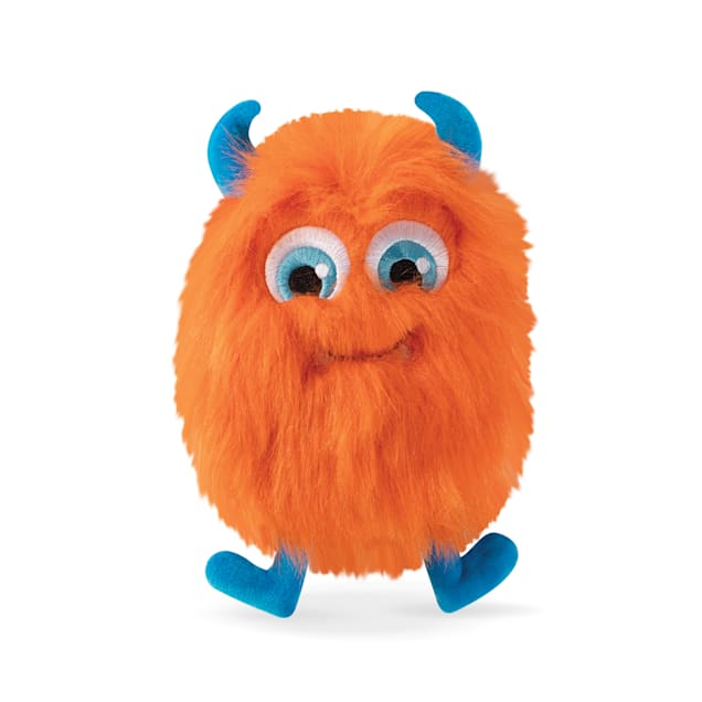 PetShop by Fringe Studio Hairy Orange Monster Plush Dog Toy - Carousel image #1