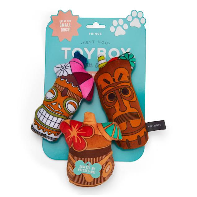 PetShop by Fringe Studio Tiki Drinks Dog Toy Set, Count of 3 - Carousel image #1
