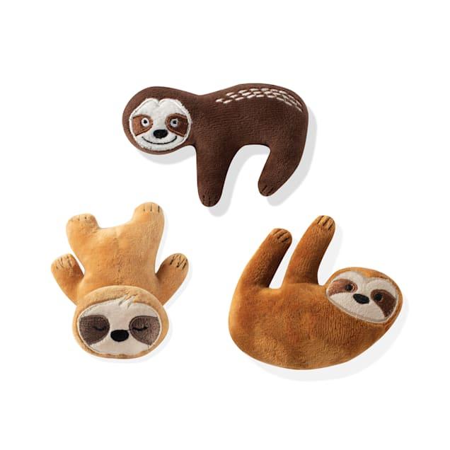 PetShop by Fringe Studio Basic Sloths Dog Toy Set, Count of 3 - Carousel image #1